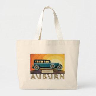 Vintage Auburn Motors Sunburst Ad Jumbo Tote Bag