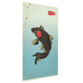 Vintage Audio Koi Canvas Print