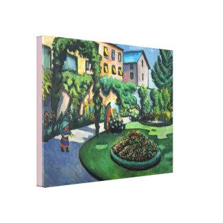Vintage August Macke Garden Image Canvas Print