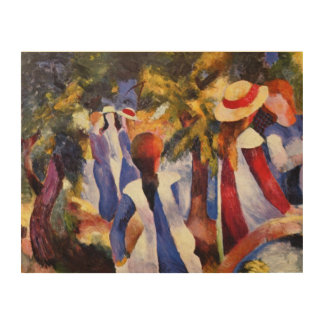 Vintage August Macke Girl In The Countryside Wood Print