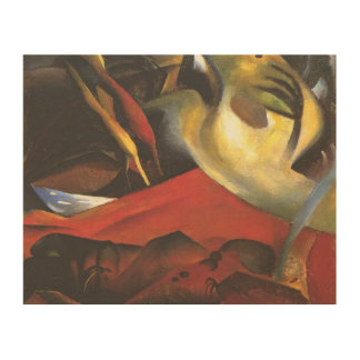 Vintage August Macke The Tempest Wood Wall Art