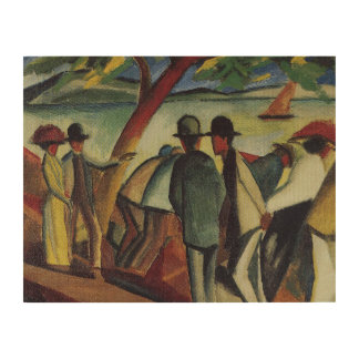 Vintage August Macke Walkers At The Lake Wood Wall Art