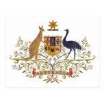 Vintage Australia Coat Of Arms Post Card