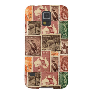 Vintage Australian Postage Stamps Collection Galaxy S5 Cover