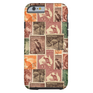 Vintage Australian Postage Stamps Collection Tough iPhone 6 Case