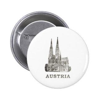 Vintage Austria 6 Cm Round Badge