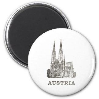 Vintage Austria 6 Cm Round Magnet