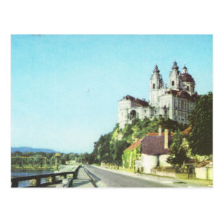 Vintage Austria Abbey of Melk, Wachau, Post Card