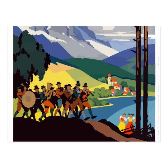 Vintage Austria Alps Travel Postcard
