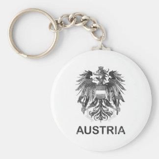 Vintage Austria Basic Round Button Key Ring