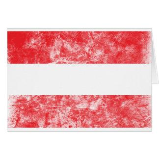Vintage Austria Flag Card
