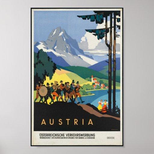 Vintage Austria Poster