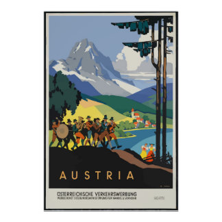 Vintage Austria Travel Classic Poster