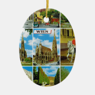 Vintage Austria, Wien, Vienna, Multiview Christmas Ornament