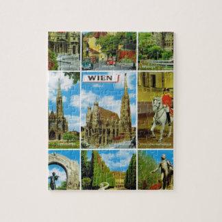 Vintage Austria, Wien, Vienna, Multiview Jigsaw Puzzle