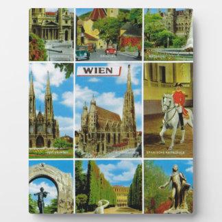 Vintage Austria, Wien, Vienna, Multiview Plaque
