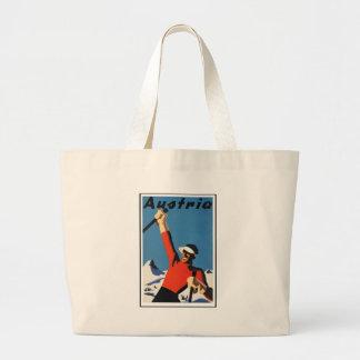Vintage Austrian Travel Poster Large Tote Bag