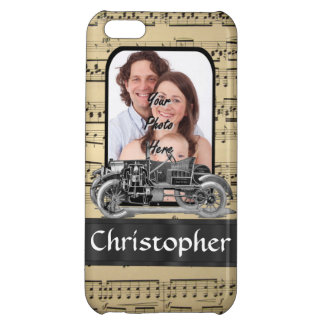 Vintage auto and music sheet iPhone 5C cover