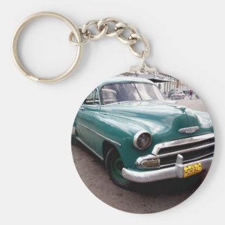Vintage Auto in Cuba Key Ring