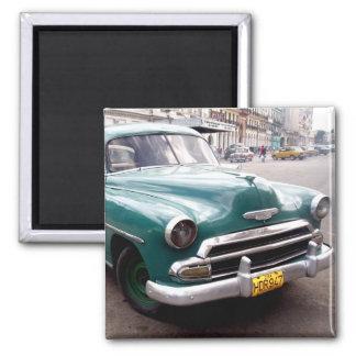 Vintage Auto in Cuba Fridge Magnets