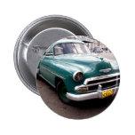 Vintage Auto in Cuba Pinback Buttons