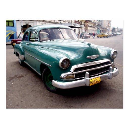 Vintage Auto in Cuba Postcards