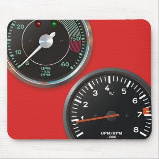Vintage auto instruments / Classic car gauges Mouse Mat