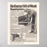 Vintage Auto Repair Ad Poster