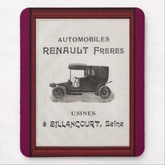 Vintage automobile advertisement, Renault Mouse Mat