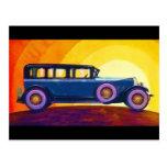 Vintage Automobile Rainbow Sunset