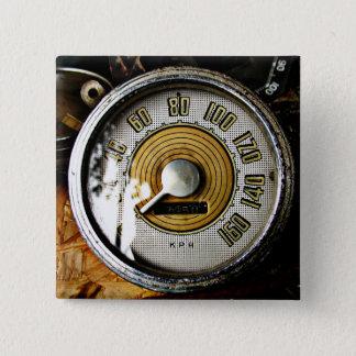 Vintage automobile speed gauge 15 cm square badge
