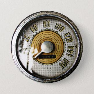 Vintage automobile speed gauge 7.5 cm round badge