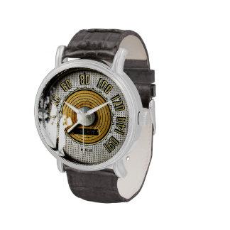 Vintage automobile speed gauge watch