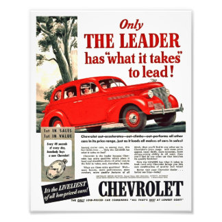 Vintage Automotive Print - Chevy 1939 Ad Artwork Photograph