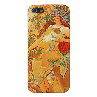 Vintage Autumn by Alphonse Mucha iPhone 5 Cases
