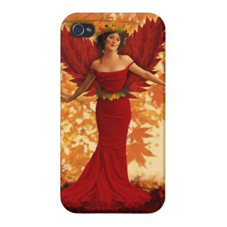 Vintage Autumn Fairy iPhone 4 Cover
