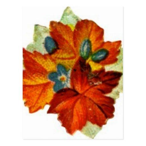 Vintage Autumn Leaves Fall Leaf Post Cards
