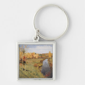 Vintage Autumn River Painting Keychains