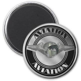 Vintage Aviation Art Magnet
