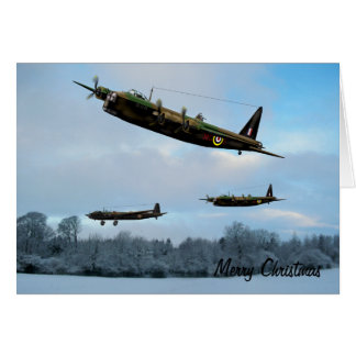 Vintage Aviation Christmas Card