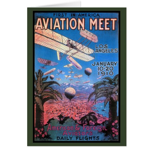Vintage Aviation Meeting in Los Angeles Poster Card