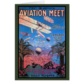 Vintage Aviation Meeting in Los Angeles Poster Greeting Card