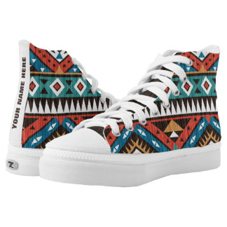 Vintage Aztec Pattern Personalized High Tops