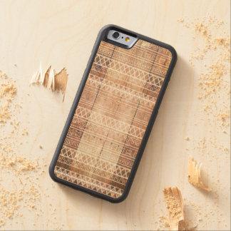 Vintage Aztec Tribal Wood Carved Maple iPhone 6 Bumper Case