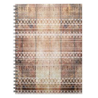 Vintage Aztec Tribal Wood Notebooks