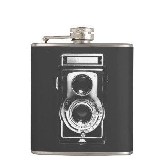 Vintage b&w Camera Hip Flasks