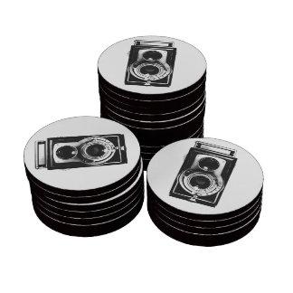 Vintage b w Camera Set Of Poker Chips