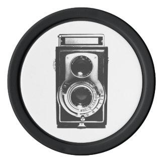 Vintage b&w Camera Set Of Poker Chips
