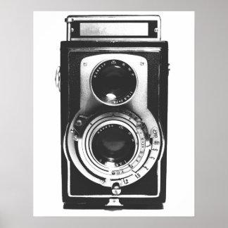 Vintage b&w Camera Poster