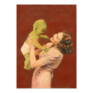 Vintage Baby Alien Invite
